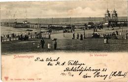 The Netherlands, Scheveningen, De Wandelpier, Old Postcard 1901 - Scheveningen