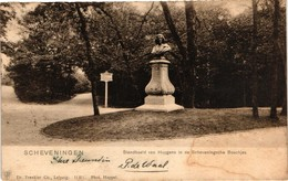 The Netherlands, Scheveningen, Standbeeld Van Huygens In De Scheveningsche Boschjes, Old Postcard 1901 - Scheveningen