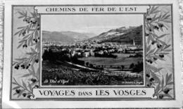 Prospectus Chemins De Fer De L'EST Voyages Dans Les Vosges Val D'Ajol + Circuit Automobile - Publicités