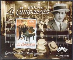 Uruguay 2017 SS MNH 100 Years La Cumparsita Tango Piano Notes Music - Music