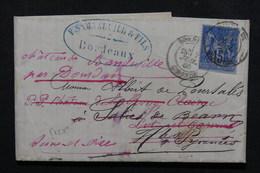 FRANCE - Lettre Commerciale De Bordeaux Pour Salies De Béarn Et Redirigé Plusieurs Fois En 1880 , à étudier - L 21931 - 1877-1920: Periodo Semi Moderno