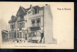 Belgie - Westende Plage De - Villas Onze Rust Les Marguerites Et Les Bluets - 1900 - Belgique