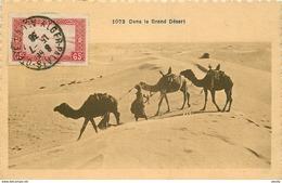 WW ALGERIE. Un Chamelier Dans Le Grand Désert 1938 - Algérie
