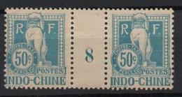 !!! PRIX FIXE : INDOCHINE, PAIRE DE LA TAXE N°13 AVEC MILLESIME 8 NEUVE ** - Indochine (1889-1945)
