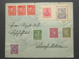 1923 , Ganzsachenausschnitt Auf Brief Aus  Lörrach , Sehr Selten - Deutschland