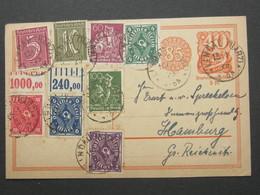 1923 , LINDAU (HARZ) , Klarer Stempel Auf Ganzsache Mit Oberrandstücken - Deutschland
