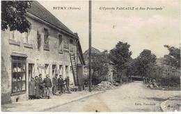 58 BITRY L' épicerie Pascault Et Rue Principale - Otros Municipios