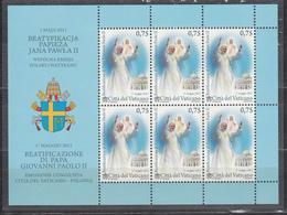 Vaticano - 2011 Beatificazione Di Giovanni Paolo II ** - Blocchi E Foglietti