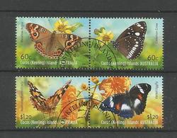 Cocos Keeling 2012 Butterflies Y.T. 470/473 (0) - Cocos (Keeling) Islands