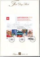 308545401 BELGIE  FIRST DAY SHEET OCB Bl153 Bl 153 Blok Antverpia 2010 - 2001-10