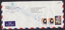 Iran: Airmail Cover To Netherlands, 3 Stamps, Anti-US Propaganda, Embassy Hostage, Rare Real Use (minor Damage) - Iran