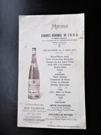 MENU Publicitaire SEVE FOURNIER DEMARS Congrès U. N. C. SAINT AMAND Cher 1931 - MARTINAT Traiteur La Celle Brure - Cher - Menus