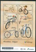 BRAZIL 2017 -  ANTIQUE BICYCLES   -  MINI SHEET OF 8 V  -  MINT - Brazil