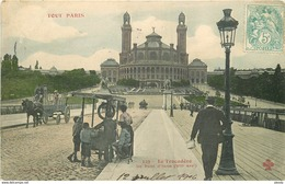 WW TOUT PARIS. Trocadéro Et Vendeur De Glace Ambulant 1906 - Arrondissement: 07
