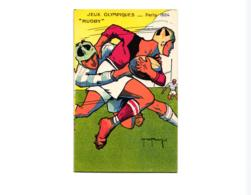 """JEUX OLYMPIQUES PARIS 1924 """"RUGBY""""   REF 58796A - Giochi Olimpici"""