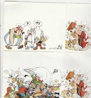 2 Cartes Asterix Et Compagnie - Comics
