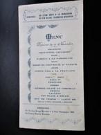 MENU Maison Bourdier & Briandet Saint Amand Cher - Dejeuner De L' Armistice - Menus