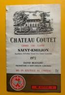 9920 - Château Coutet 1972 Saint-Emilion - Bordeaux