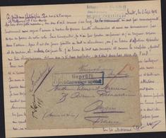 Guerre 14 FM Censure Geprüft FA Gefangenenlager Ingolstadt Lettre Spalt 1 9 15 Gefangenenlager Camp Fort Orff - Allemagne