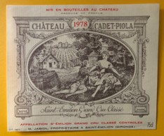 9924 - Château Cadet-Piolla 1978 Saint-Emilion - Bordeaux