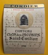 9930 - Château Clos Des Jacobins 1950 Saint-Emilion - Bordeaux