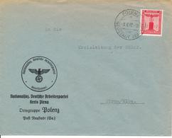 POLENZ über Neustadt  - 1942 , NSDAP Nationalsoz. Deutsche Arbeiterpartei  Kreis Pirna  Ortsgruppe Polenz - Deutschland