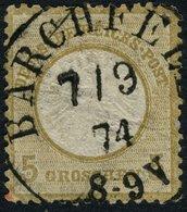 Dt. REICH 5 Gr. TT-ABLÖSER K1 BARCHFELD, FEINST, Mi. 40 - Thurn Und Taxis