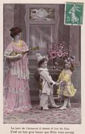 """CARTE FANTAISIE. SÉRIE COMPLÈTE  5 CARTES. ENFANTS ET  """" CARNAVAL """" ANNEE 1909 - Enfants"""