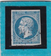 N° 14 A  PC  494  BOUXWILLER  /  BAS-RHIN   REF 12118  + Variété  IND 7  Cote 30€ - 1853-1860 Napoléon III