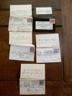 Lot Van 5 Stuks  Oude       Visitekaartjes Met Omslag En Zegel  VIELLE- MONTAGE   BAELEN - WEZEL - Cartes De Visite