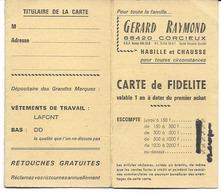 88 - Corcieux - Carte De Fidélité Vêtements Gérard Raymond - Textilos & Vestidos
