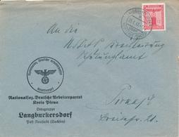 LANGBURKERSDORF über Neustadt  - 1941 , Nationalsoz. Deutsche Arbeiterpartei  Kreis Pirna  Ortsgruppe Langburkersdorf - Deutschland
