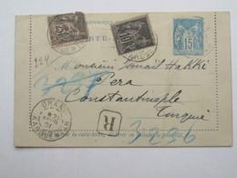 1901, Marocco  , ORAN , Lettre Carte   ORAN - Constantinopel - Lettres & Documents