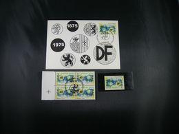 "BELG.1975 1757 FDC Maxi Card + Zegel** + 4erbloc MNH Met Eerste Dag Stempel :   "" Davidfonds 100 Jaar/ Années 100 "" - Maximum Cards"