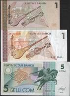 B 63 - KIRGHIZISTAN Lot De 3 Billets Diff. état Neuf 1er Choix - Kirghizistan