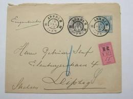 1902 , Recommande A Duitsland - Periode 1891-1948 (Wilhelmina)