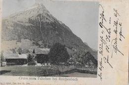 GRUSS VOM FALSCHEN → Bei Reichenbach, Alter Nachcolorierter Lichtdruck Anno 1906 - BE Berne
