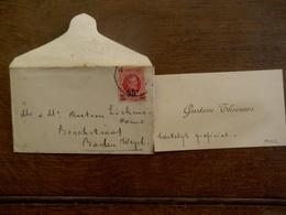 Oud Visitekaartje 1928   Baelen - Wezel Vanuit MOLL - Cartoncini Da Visita