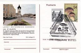 Carte Entier Postal D' Autriche Champignon Cèpe Avec Superbe Cachet Comémoratif - Pilze