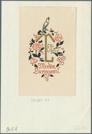 Varia (im Ansichtskartenkatalog): LUXUSPAPIER / Exlibris, Ein Gehaltvolles Konvolut Mit Knapp 100 Ve - Andere Sammlungen