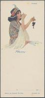 Varia (im Ansichtskartenkatalog): MENÜKARTEN, Schachtel Mit Gut 100 Unterschiedlichen Dekorativen Me - Andere Sammlungen