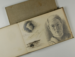 Varia (im Ansichtskartenkatalog): Skizzenbuch, 2 Bände, Datiert 1886-1889, K. Sandvoss, Zum Teil Seh - Andere Sammlungen