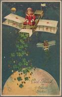Varia (im Ansichtskartenkatalog): 1915/23, Glückwunsch- Und Grußkarten (13) Plus 3 Feldpostkarten Au - Andere Sammlungen