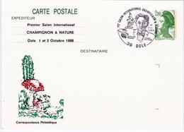Entier Postal De France, Thème Champignon Avec Cachet Commémoratif - Pilze