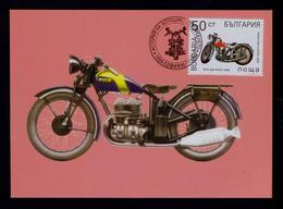 """""""PUCH 200 LUXUS"""" 1928 Motos Transports 1992 BULGARIE Maximum Cards Mc702 - Motos"""