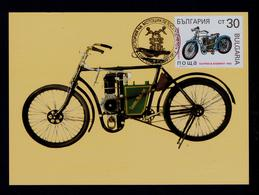 """LAURIN & KLEMENT"" 1902 Motos Transports 1992 BULGARIE Maximum Cards Mc703 - Motos"