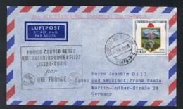 1957 19. Wappen Brief Gelaufen  Mi:EC 954, Sn:EC C318, Yt:EC PA315 - Ecuador