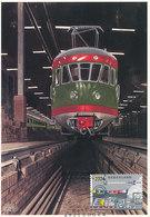 D36083 CARTE MAXIMUM CARD 2004 NETHERLANDS - TRAIN RAILWAYS SPEC. POSTMARK SIGNAL CP ORIGINAL - Eisenbahnen