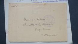 Lettre En Franchise Militaire De La 1ere Armée Navale Division D'Orient Etat Major Pour Diego Suarez Février 1917 - Postmark Collection (Covers)