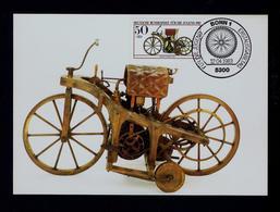 Historic  Motorway Daimier-Maybach 1885 Motos Transports 1983 Germany Maximum Cards Mc704 - Motos